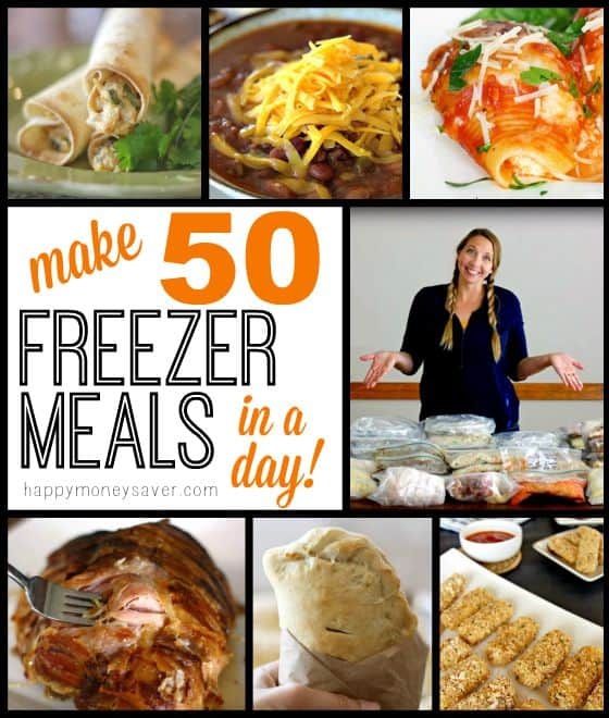 Make 50 Freezer Meals in a Day! | Happy Money Saver