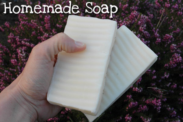 Homemade Soap Recipe using lye and oils.