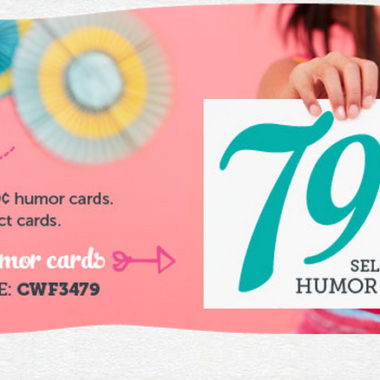 Cardstore: Personalized Humor Cards only $.79 (today only)