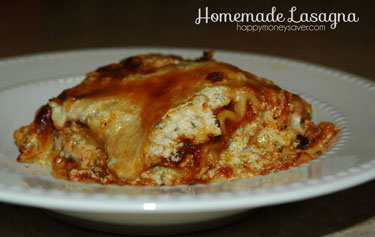 Homemade Easy Lasagna Recipe {Because Store-Bought is Yuck}