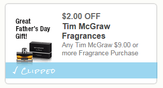 $2 off Time McGraw Fragrance For Men only $14 at Walmart