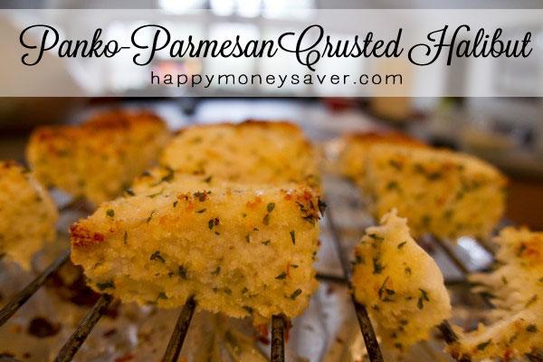 Panko-Parmesan Crusted Halibut Recipe