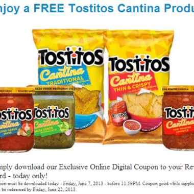 Fred Meyer: Free Tostitos Cantina Product