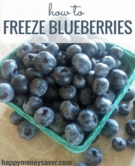How to Freeze Blueberries - best way to preserve flavor for smoothies -Happymoneysaver.com
