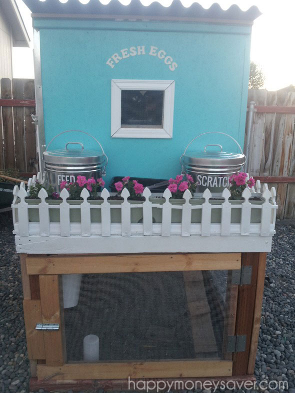 Pretty Chicken coop with picket fence