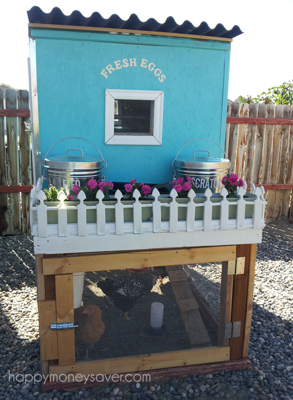 My Pretty Little Blue Chicken Coop With A White Picket