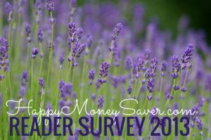 Happy Money Saver 2013 Reader Survey