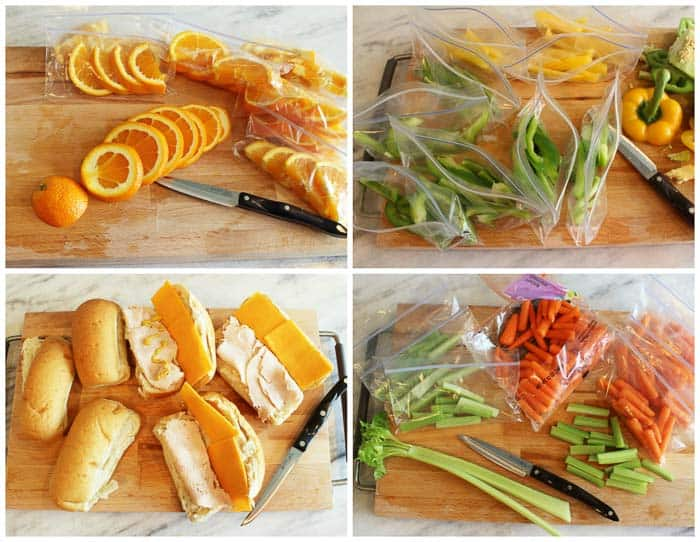 Save time make all your lunches in one day for the week and have
