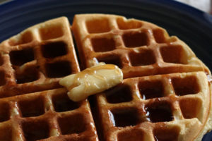 Sweet Milk Waffle Recipe - so delicious and easy to make. Nothing tastes better than from Scratch! happymoneysaver.com