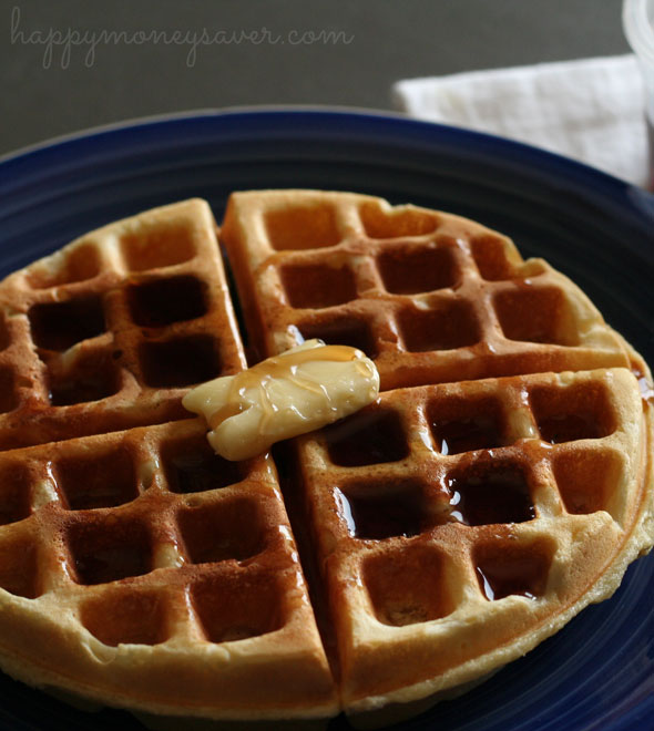 Sweet Milk Homemade Waffles Recipe - so delicious and easy to make ...