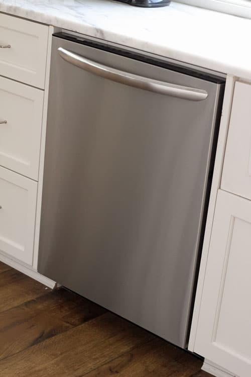 How to clean the outside of your stainless steel dishwasher and clean the inside too easily!
