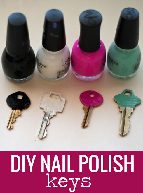 So doing this! DIY Nail Polish Keys - #thrifty #DIY  happymoneysaver.com