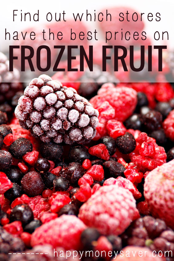 Price compared frozen bags of fruit from 6 different stores to find out where the best price for frozen fruit are. Smoothies here I come.