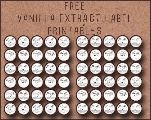 Free printable tags to make homemade vanilla! Alcoholic or Non-Alcoholic recipe.