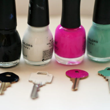 Thrifty Tip: Use Nail Polish to Color Code your Keys!