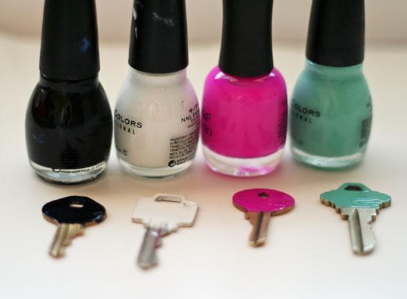 Nail polish key