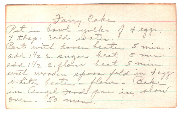 Vintage Fairy Cake Recipe - light and airy.