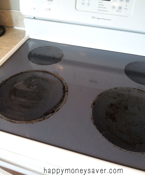 The thrifty lazy way to clean your glass stovetop happy How to clean top of oven