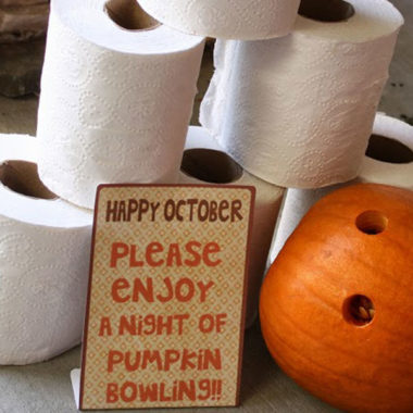Who wants to do some Pumpkin Bowling?