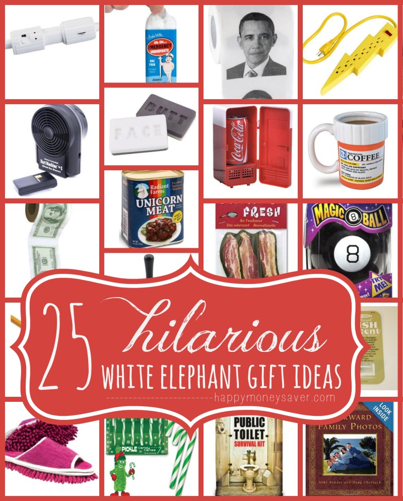 25 Best Hilarious White Elephant Gift Ideas | Happymoneysaver.com