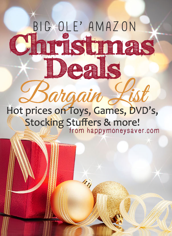 Massive List of amazing Amazon Christmas Toys, Gifts and Stocking Stuffers. This link is updated every few days as happymoneysaver is looking for new hot deals.