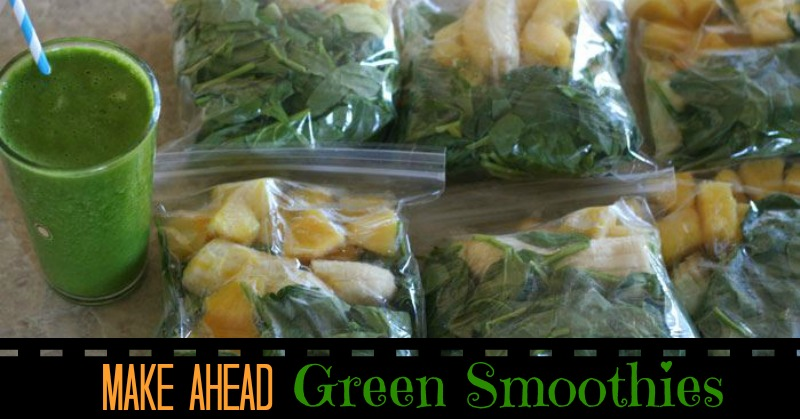Make Ahead Green Smoothies