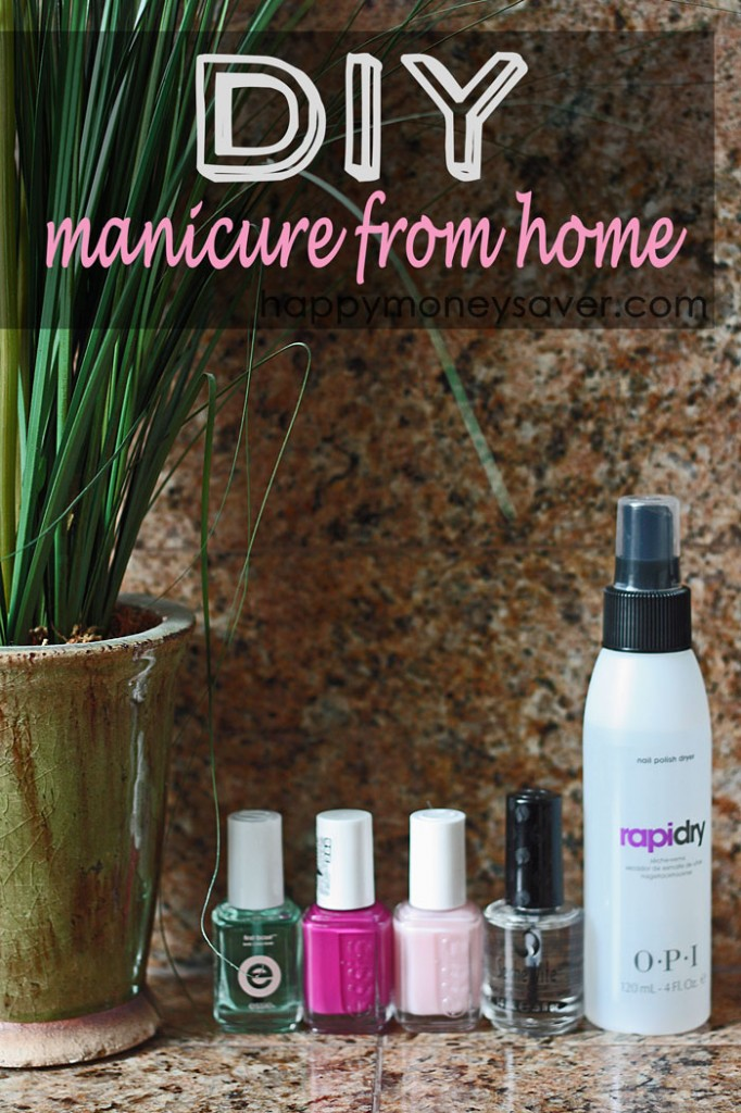 Diy professional manicure or pedicure at home to save money happy i am not going to lie i love getting my nails all done up pretty at the nail salon i love getting spoiled i love not having to do all the work solutioingenieria Choice Image