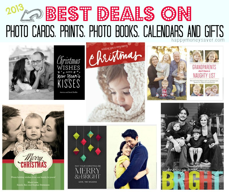 Huge round up list of all the best PHOTO card deals, photo books, custom calendars and more. Updated each week until Christmas. SAVE MONEY TIME!
