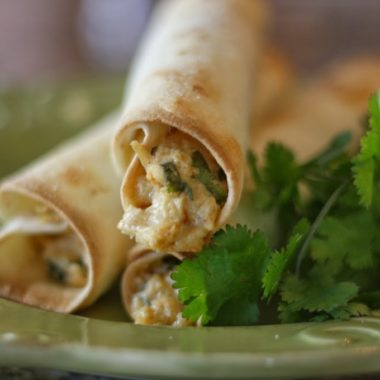 Homemade Chicken Taquitos with Cilantro & Pepper-Jack Cheese