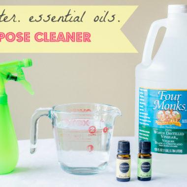 Keep it Clean. Easy 3 Ingredient All Purpose Spray.