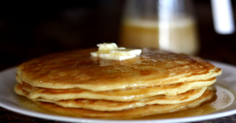 A new favorite-This easy homemade Buttermilk pancake recipe is amazing! I love that it freezes well for an easy and quick breakfast!