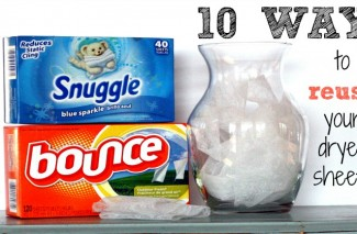 10 Ways to Reuse your Dryer Sheets - I didn't know about most of these!
