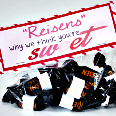 """Riesens"" Why I Think You're Sweet – Valentine Idea"