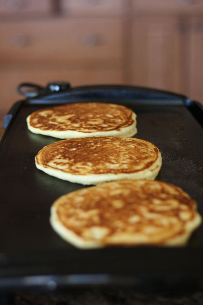 This Buttermilk pancake recipe is amazing! I love that it freezes well for an easy and quick breakfast!