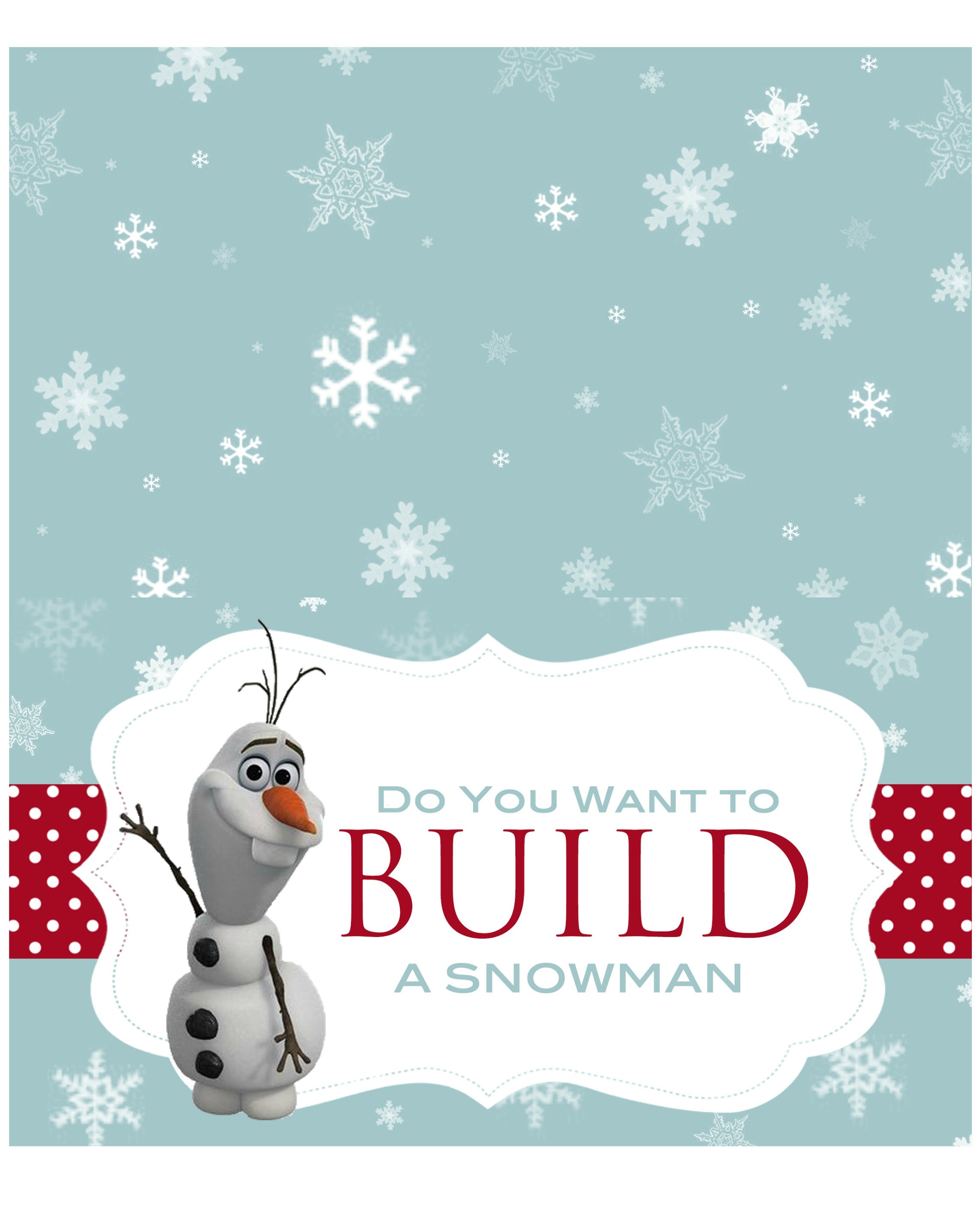 Let 39 s build a snowman kit with free printable for What do i need to do to build a house