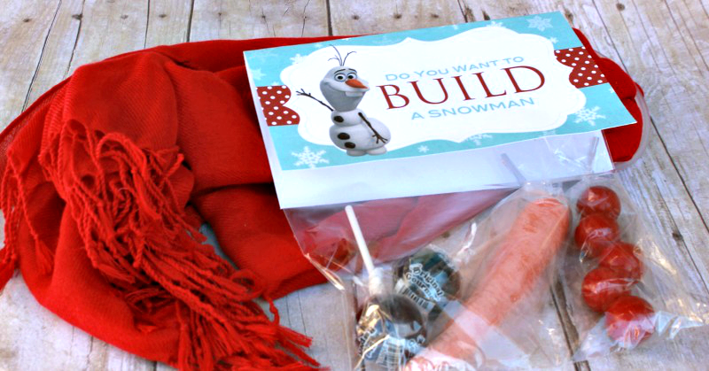 Give someone you care about a snowman kit to cheer them up! A great idea for neighbor gifts. #happythoughts #winter #christmasneighborgifts