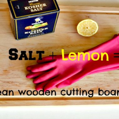 Thrifty Tip: Clean your Wooden Cutting Board with Lemon and Salt