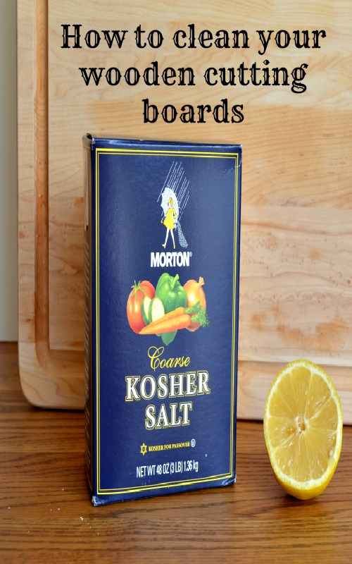 Easy way to clean your wooden cutting boards with lemon and salt--so easy!