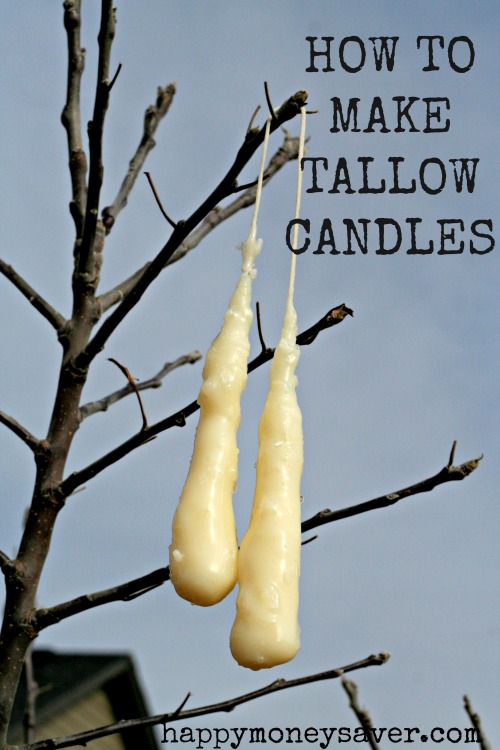 This blogger shows you How to Make Tallow Candles from start to finish. Making Tallow Candles is great to know for emergency preparedness!