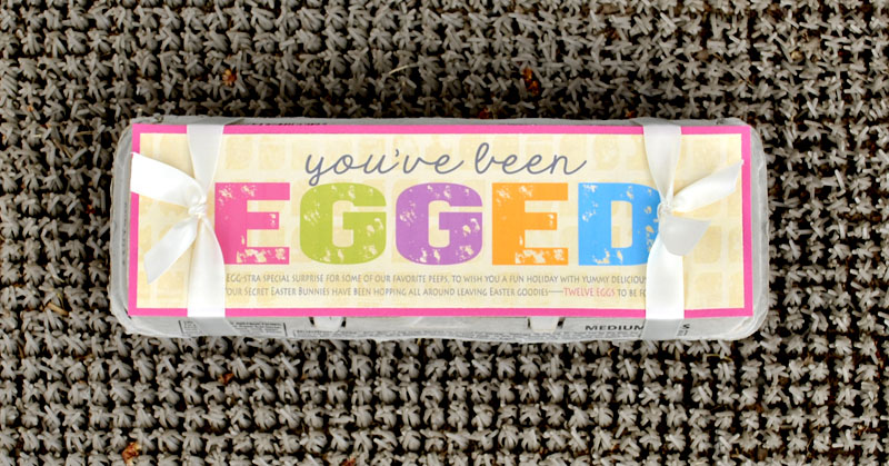 """You've Been Egged"" Easter glow hunt is a fun Easter activity to do with your family and for your friends. #happythoughts #youvebeenegged #easterglowhunt"