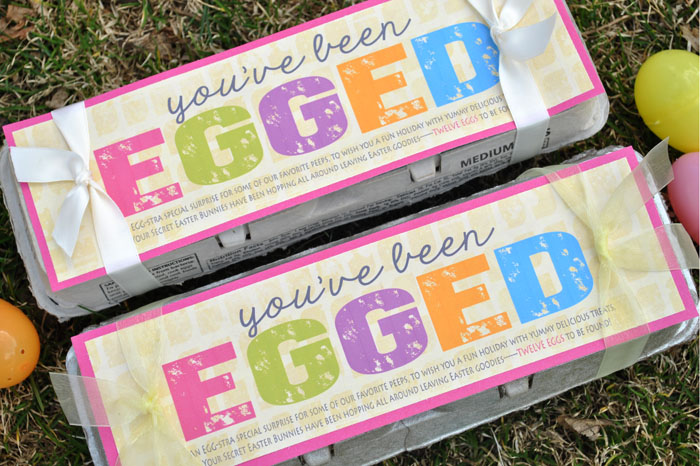 """You've Been Egged"" Easter glow hunt is a fun activity to do with your family. #happythoughts #youvebeenegged #easteregghunt"