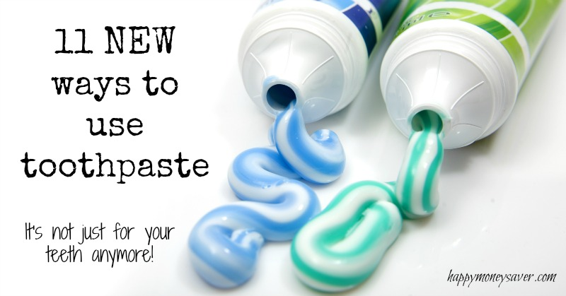 11 NEW uses for toothpaste in your home!