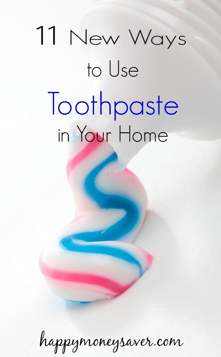 11 ways to use toothpaste!  I knew some of these ways before but I was surprised at the rest of them!  Can't wait to try them all out!
