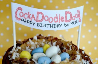 Cockadoodledoo Birthday Banner + Free Printable