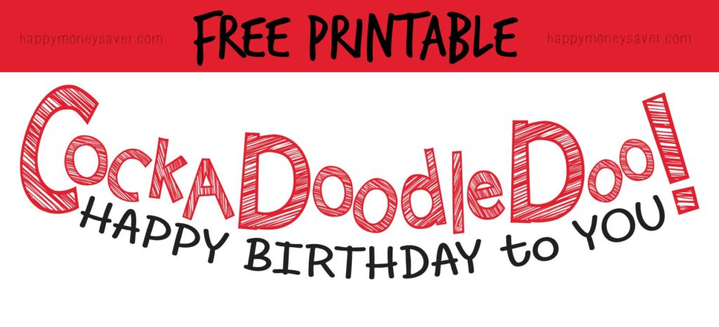 "Use this ""Cockadoodledoo"" Birthday banner for someone's special day! #happythoughts #cockadoodledoo #happybirthdaytoyou"