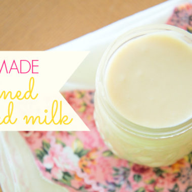 Making your own homemade sweetened condensed milk is so easy! And about 50% cheaper than Eagle Brand.