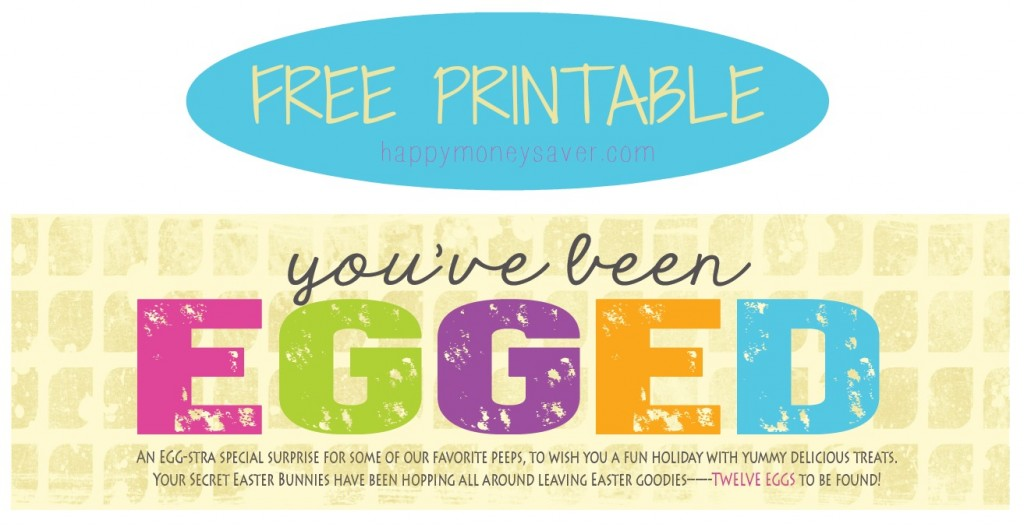 "Use this ""You've Been Egged"" printable to do an Easter egg glow hunt. You won't regret it! #happythoughts #you'vebeenegged #easterglowhunt"