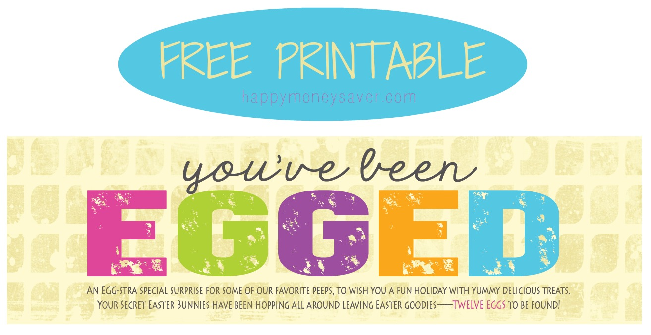 photo about You've Been Egged Printable identified as Youve Been Egged\