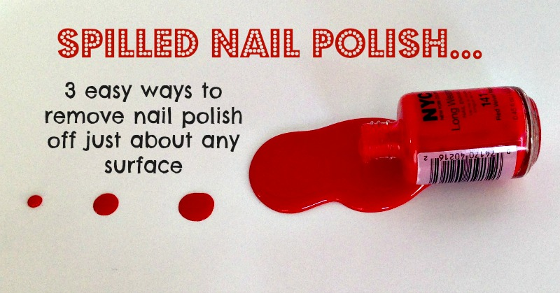 Easy ways to remove nail polish off carpet, clothes and wood!