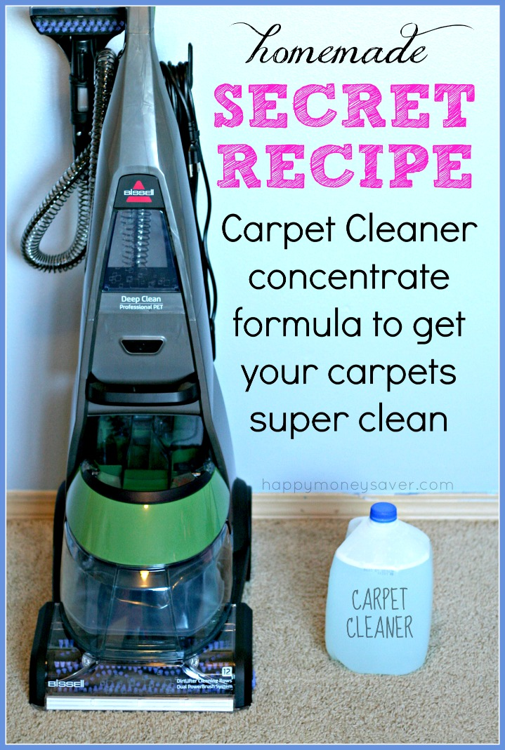 Homemade Secret Recipe Carpet Cleaner Happy Money Saver